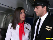 Well skilled stewardess Mischa serving her client at the hichest level.