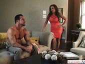 Busty whore Phoenix Marie takes part in crazy threesome scene
