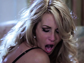 Graceful blond milf Jessica Drake sucks penis and gets laid
