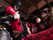 Horny chick Kleio Valentien gives splendid blowjob to Batman