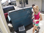 Sinful chick Alexa Grace gets fucked near the garbage bin