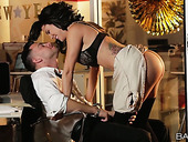 Jaw dropping secretary Peta Jensen has crazy sex with new co-worker