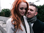 Ginger seductress Ella Hughes moans under hot tempered boyfriend