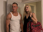 Sweet looking blonde Charlize Bella is fucked with big long dick