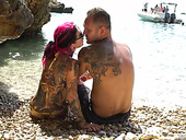 Crazy anal sex with sex-hungry emo whore Joanna Angel on the beach
