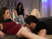 Sizzling hottie Casey Calvert is fucked in the presence of dude's wife
