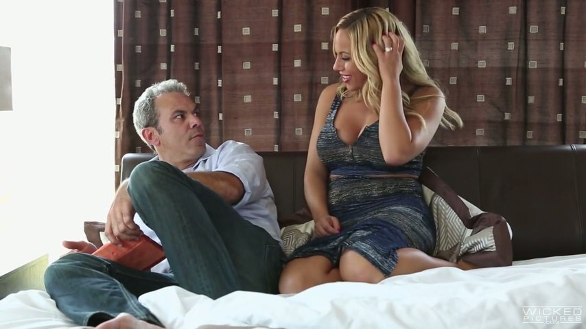 Gorgeous milf Olivia Austin rides hard penis and her big boobs bounce in front of dude's face