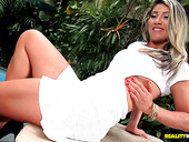 Jaw dropping milf with tan lines Leticia Sanches is fucked by BBC