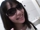 Japanese slut in sun glasses Chizuru gives her head and gets her slit fucked