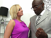 Horny blond bitch Kate England is fond of huge black dick