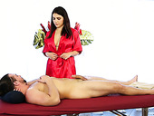 Super sexy masseuse Valentina Nappi provides her client with unforgettable sex