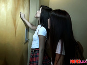 Skilled lesbian teaches Lilith Shayton how to play with girlfriend's pussy