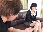 Kinky dude is fisting anal hole of naughty Japanese chick after pussy shaving scene