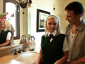 Shy looking college chick Dylan Riley is fucked like dirty whore