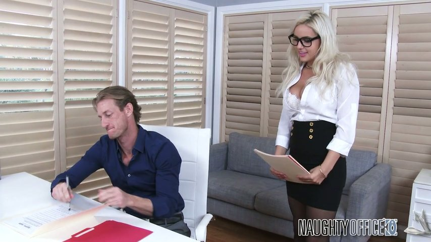 Fucking hot secretary in her black leggings