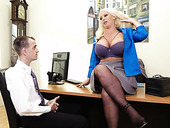 Young employee fucks stretched twat of curvy lady boss Alura Jenson