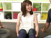 Slutty chick from Japan Maki Sarada gets double penetrated