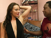 BBC enjoys sniffing armpits and fucks sex-hungry bitch Kayla West
