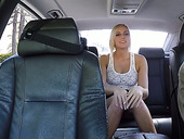 Whore wife Kate England enjoys having wild sex in the back seat