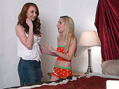 Red haired slut Kendra James is fucking her nasty girlfriend