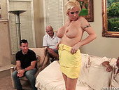 Mature blonde Casey Grant gets her anus rammed in the presence of her cuckold husband