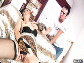 Mature harlot Reena is fucked hard by hot tempered young client