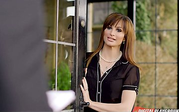 Whore wife Ava Courcelles is cheating on her old blind husband