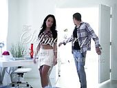 Libidinous babe Megan Rain is fucked hard by hot tempered stud