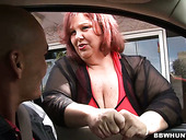 Obese ugly bitch is fucked hard by hot tempered BBW Hunter