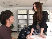 Japanese office slut Yui Kasuga seduces co-worker and gets her pussy creampied