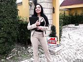 Hottie with a nice pussy Selena Santana is fucked hard on a pov camera