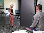 Petite blonde Cleo Vixen gives her head and gets rammed hard