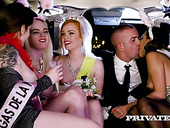 V.I.P whore Carly Rae takes part in crazy group sex in the limo