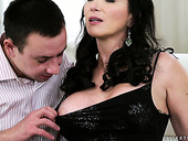 Brunet milf Silvie Sunny licks anal hole of one dude