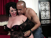 Mature bitch with big boobs and giant ass Alexis Couture is fucked by hot tempered stud