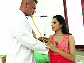 Sizzling hottie Kira Queen seduces young doctor and has a quickie