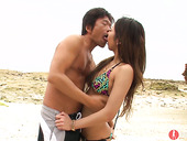 Pretty hot Asian chick Yui Nanase sucks tiny dick and rides it reverse and face to face