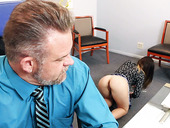 Spoiled chick Bambi seduces her stepfather in his office