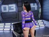 Salacious brunette Kristina Rose is testing a new fucking machine