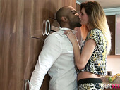 Insatiable blond babe Eva Johnson has a nookie with hot tempered BBC