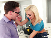 Bitchy blonde Tiffany Watson is cheating on her husband with plumber