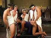 Black harlot Lisa Tiffian takes part in crazy interracial gangbang
