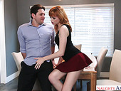 Ginger hottie with slim body Anny Aurora is fucked from behind