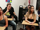Horny teacher and students fuck pretty hot busty babe Danica Dillon
