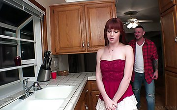 Rude tattooed plumber fucks anal hole of sex-hungry red head Alexa Nova