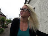 Stupid blondie in glasses Lexie sucks dick before crazy pounding