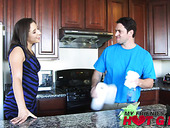 Sex-hungry chick Abella Danger seduces her stepbrother and sucks his cock
