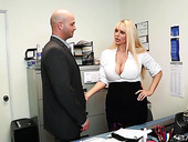 Big tittied secretary Karen Fisher knows what her boss needs