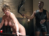 Plump mistress with big boobs gets whipped and punished