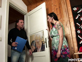 Brunette housewife Donita is cheating on her husband with one stranger